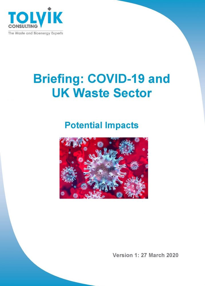 Potential impacts of COVID-19 on the UK waste sector
