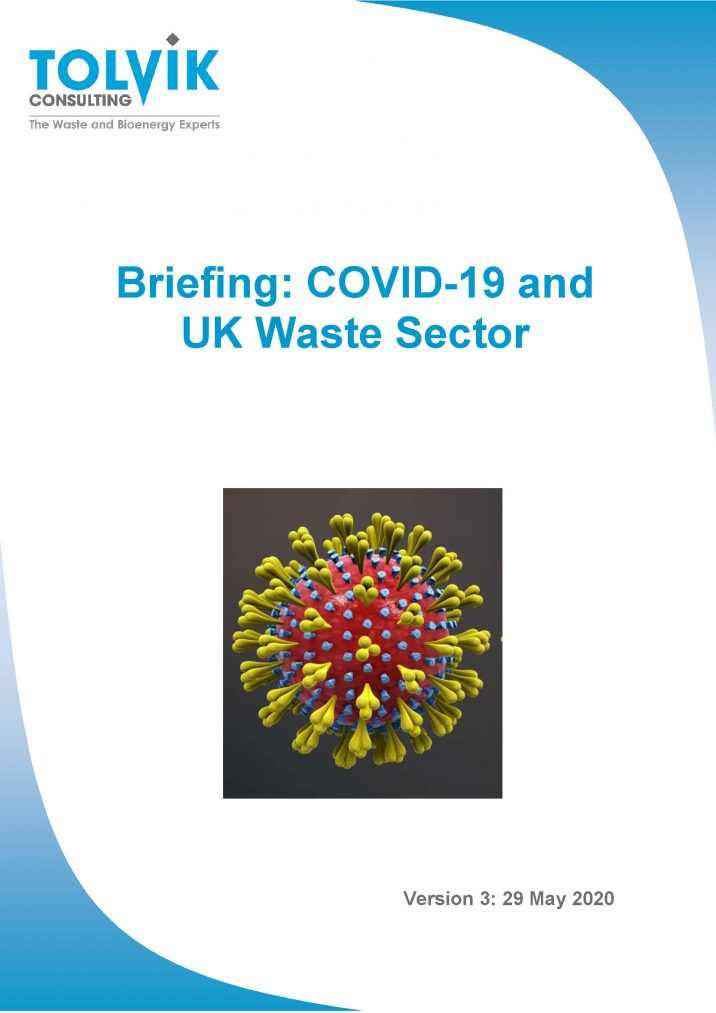 Update: Potential impacts of COVID-19 on the UK Waste Sector