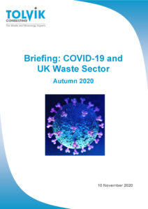 Briefing: COVID-19 and UK Waste Sector (Autumn 2020)